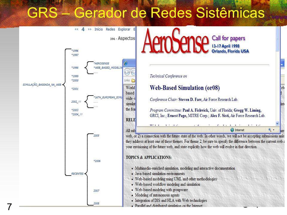 7 GRS – Gerador de Redes Sistêmicas Ilan Chamovitz 2007 – ilan@ufrj.br