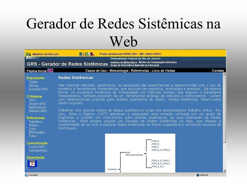 Gerador de Redes Sistêmicas na Web