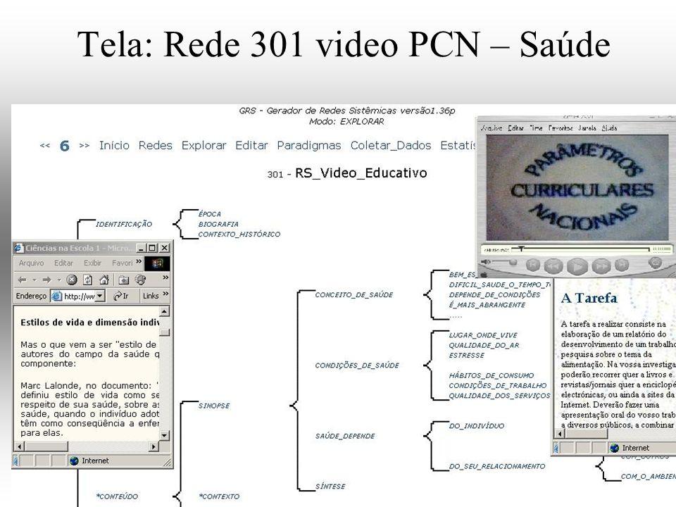 Tela: Rede 301 video PCN – Saúde