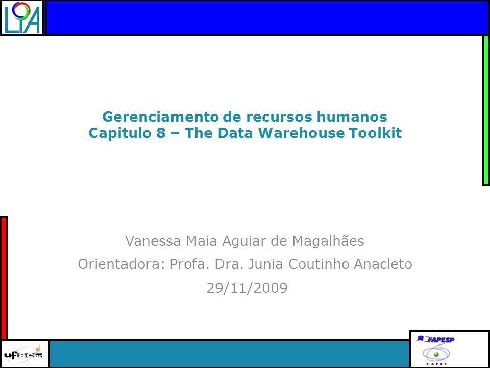 Clique para editar o título mestre 29/11/2009 Orientadora: Profa. Dra. Junia Coutinho Anacleto Gerenciamento de recursos humanos Capitulo 8 – The Data
