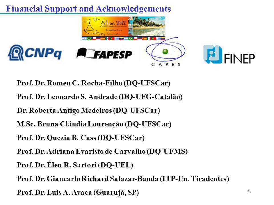 2 Prof. Dr. Romeu C. Rocha-Filho (DQ-UFSCar) Prof. Dr. Leonardo S. Andrade (DQ-UFG-Catalão) Dr. Roberta Antigo Medeiros (DQ-UFSCar) M.Sc. Bruna Cláudi