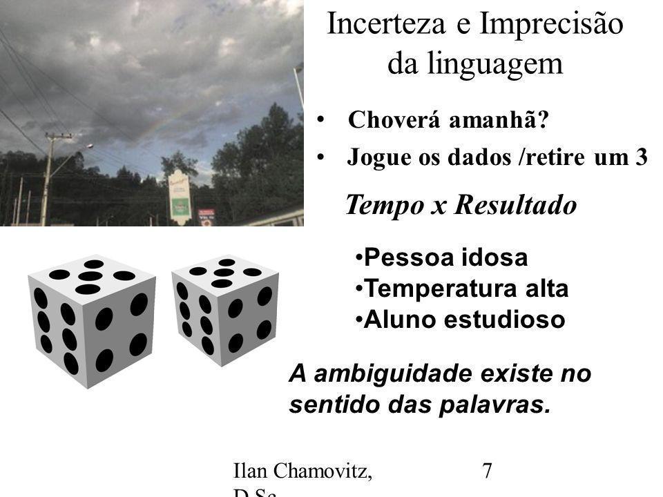 Ilan Chamovitz, D.Sc. - ilan@api.adm.br 7 Incerteza e Imprecisão da linguagem Choverá amanhã.
