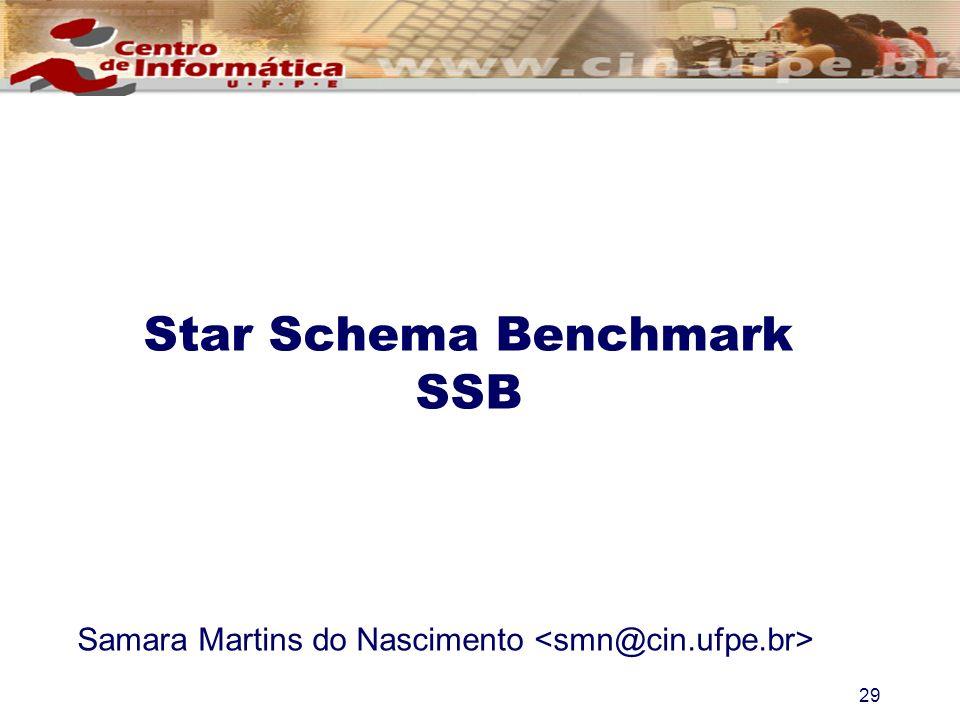 29 Samara Martins do Nascimento Star Schema Benchmark SSB