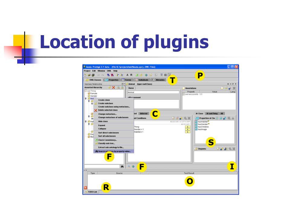 Location of plugins