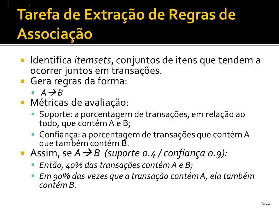 27/42 Redução da dimensionalidade dos dados sem perda de significado ACTreinoTatuSIM 88 Tuplas select if ((select count(se.id) from sessaoexec se inner join sessaoexec_passoexec sepe on se.id = sepe.sessaoexec_id inner join passoexec pe on pe.id = sepe.passosExecutados_id inner join passoexec_blocoexec pebe on pe.id = pebe.passoexec_id inner join blocoexec be on be.id = pebe.blocosExecutados_id inner join blocoexec_tentativaexec bete on be.id = bete.blocoExec_id inner join tentativaexec te on te.id = bete.tentativasExecutadas_id inner join tentativaexec_tentativainteracao teti on te.id = teti.tentativaexec_id inner join tentativainteracao ti on ti.id = teti.interacoes_id inner join blocotentativaocorrencia bto on bto.id = te.ocorrencia_id inner join passoblocoocorrencia pbo on pbo.id = be.ocorrencia_id where se.id = ?transacao.