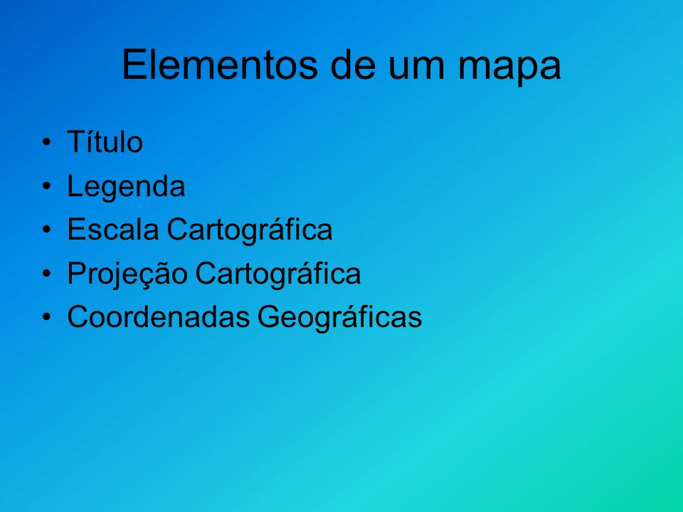 Legendas Cartográficas