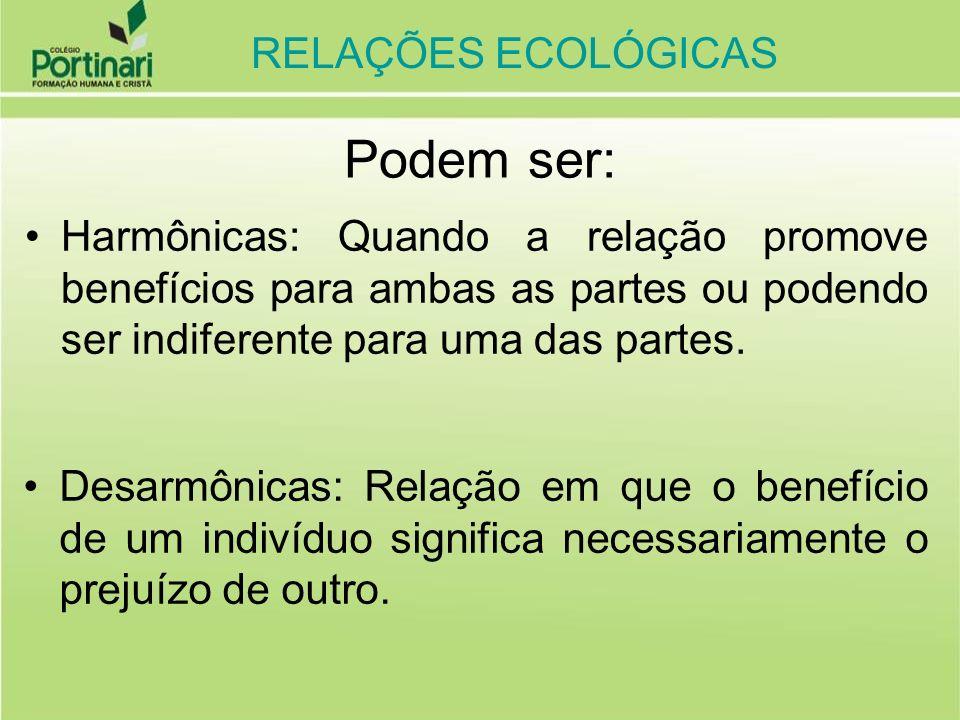 RELAÇÕES ECOLÓGICAS DESARMÔNICAS ( ocorre prejuízo para um dos envolvidos) INTRA-ESPECÍFICAS (ocorrem entre indivíduos da mesma espécie, dentro das populações) CANIBALISMO ( + / -) Canibal é o indivíduo que mata e come outro da mesma espécie.
