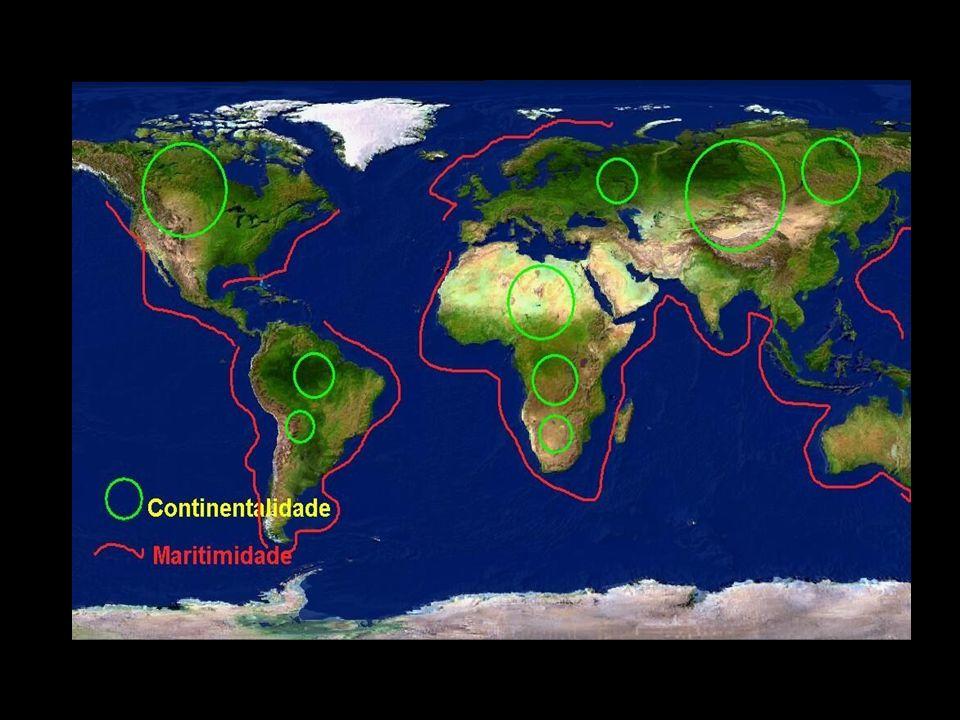 CORRENTES MARÍTIMAS Influenciam nas condições atmosféricas das áreas litorâneas próximas às quais circulam.