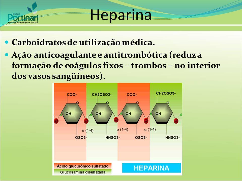 Heparina Carboidratos de utilização médica.