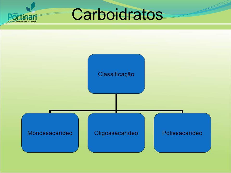 Monossacarídeos Pentoses Ribose (RNA) – C 5 H 10 O 5 Desoxirribose (DNA) – C 5 H 10 O 4 Hexoses Glicose – C 6 H 12 O 6 Frutose – C 6 H 12 O 6 Galactose – C 6 H 12 O 6 Fórmula geral: C N (H 2 O) N