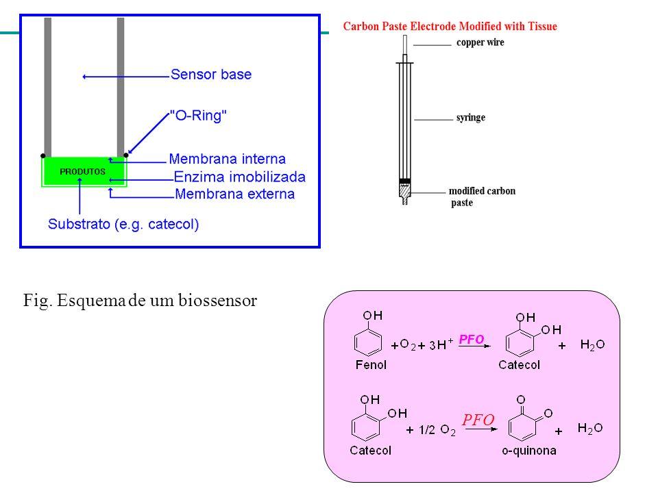 Fig. Esquema de um biossensor PFO