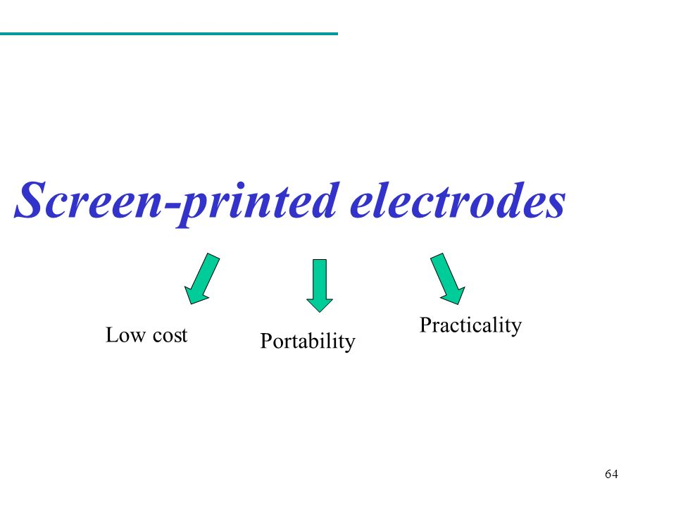 Low cost Portability Practicality 64 Screen-printed electrodes