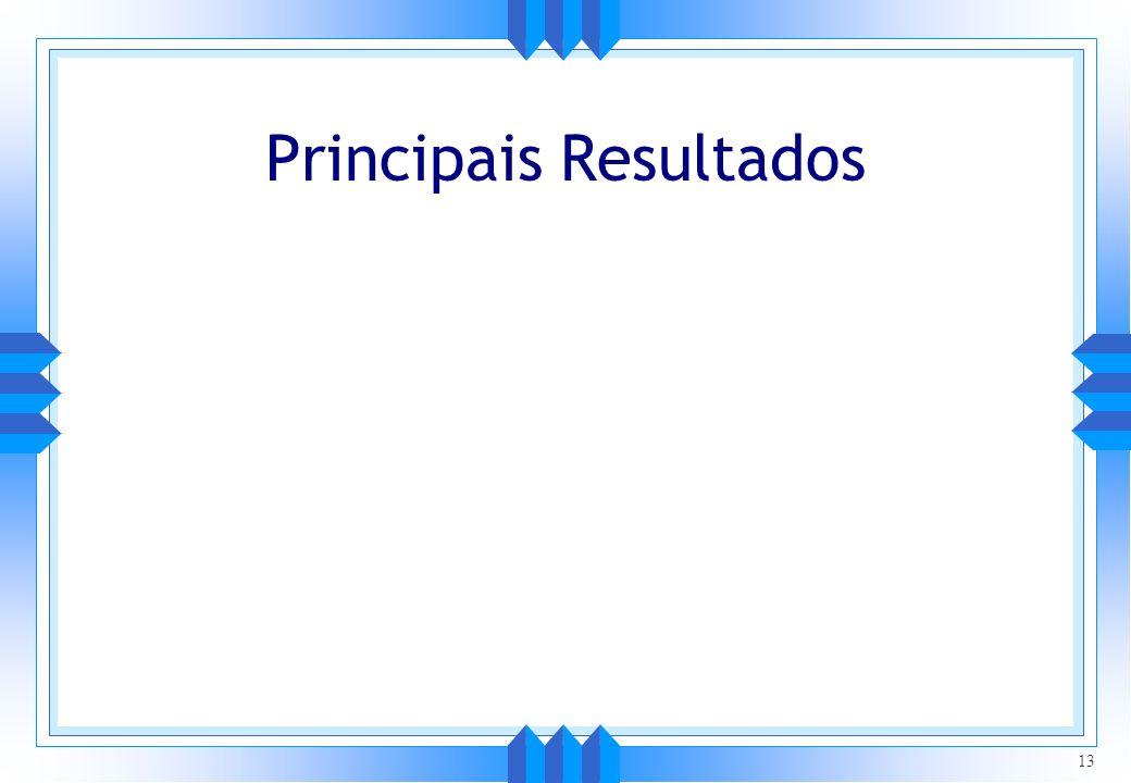 Principais Resultados 13