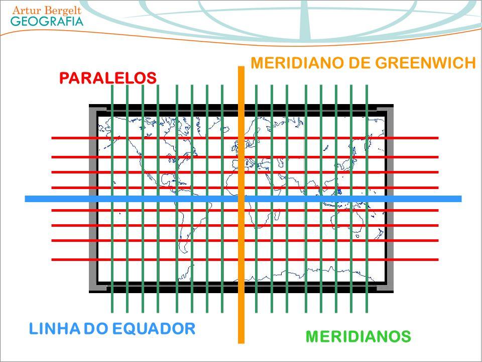 PARALELOS MERIDIANOS LINHA DO EQUADOR MERIDIANO DE GREENWICH