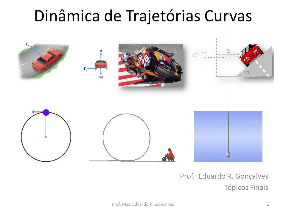 Dinâmica de Trajetórias Curvas Prof. Eduardo R. Gonçalves Tópicos Finais 1Prof. Msc. Eduardo R. Gonçalves