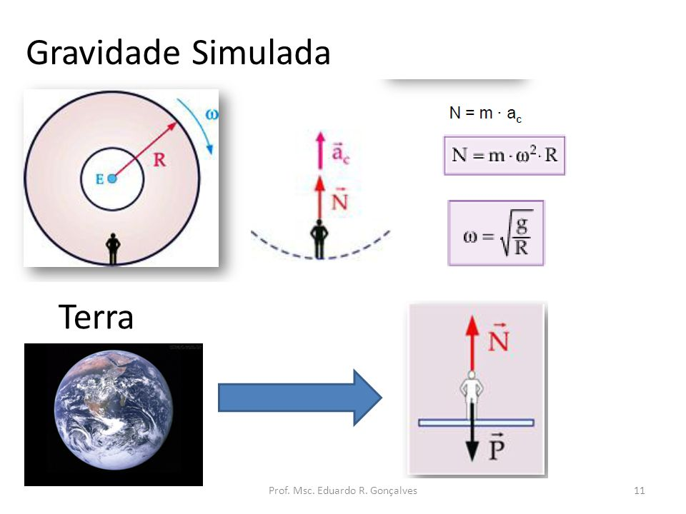Prof. Msc. Eduardo R. Gonçalves11 Gravidade Simulada Terra