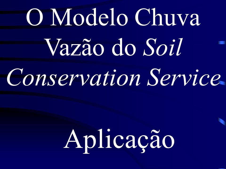 O Modelo Chuva Vazão do Soil Conservation Service Aplicação