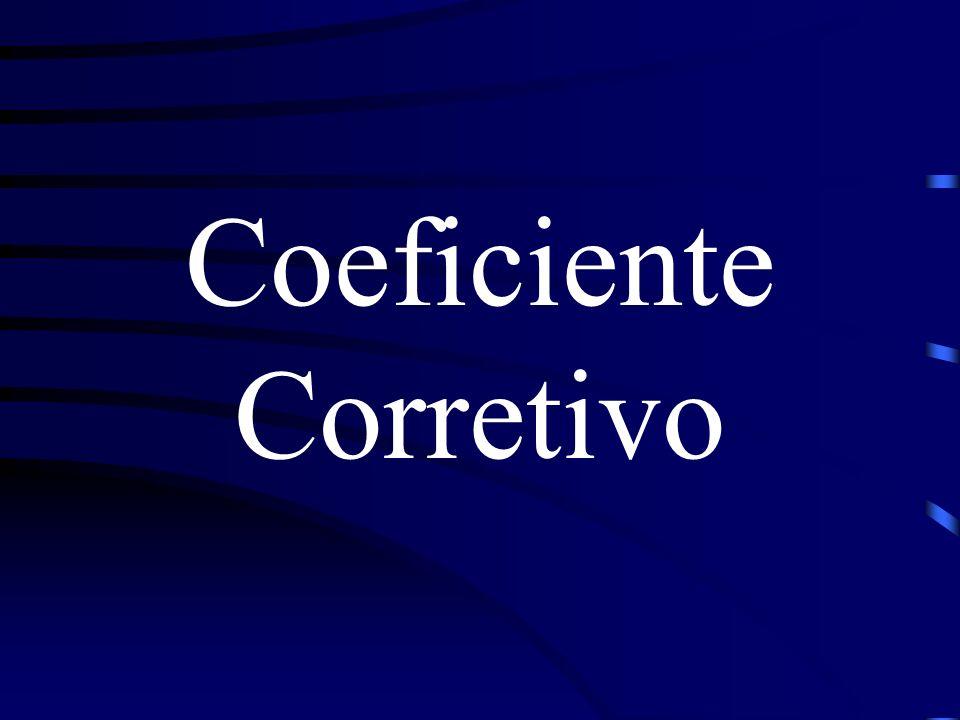 O coeficiente corretivo representa a correção do valor de precipitação máxima em função da área da bacia hidrográfica, de forma a considerar a não uniformidade da precipitação sobre a mesma.