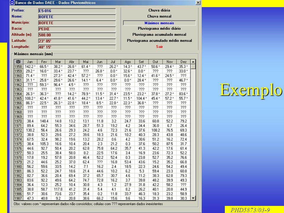 PHD5873/03-9 Exemplo