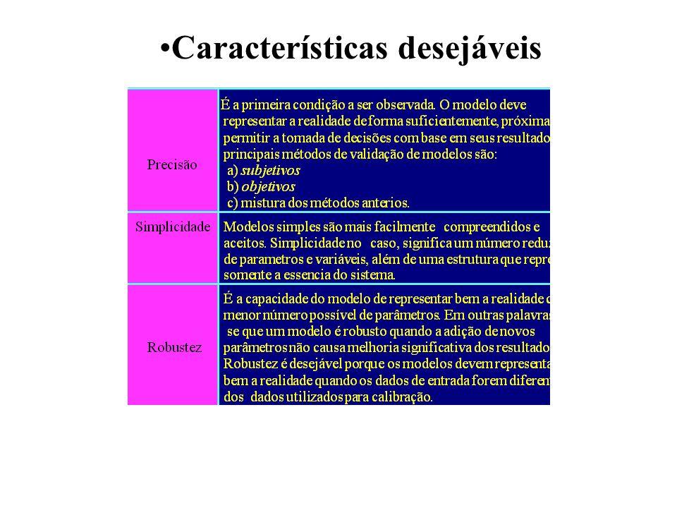 Características desejáveis