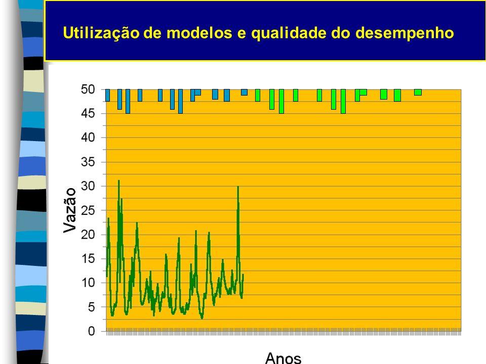 Utilização de modelos e qualidade do desempenho Extensão de series de vazão