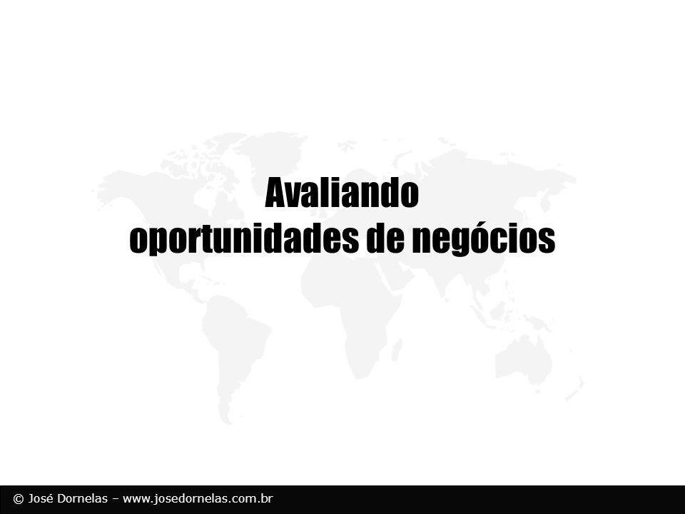 © José Dornelas – www.josedornelas.com.br Avaliando oportunidades de negócios