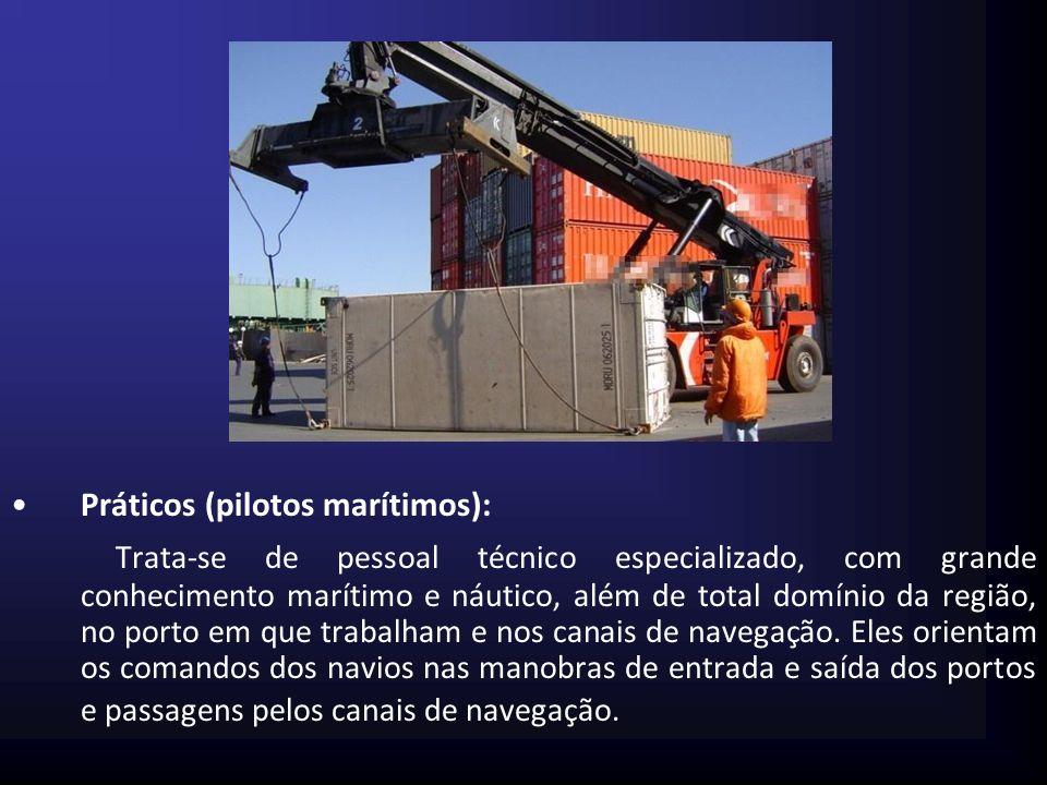 Conferentes: Conferência de entrada e saída de cargas.