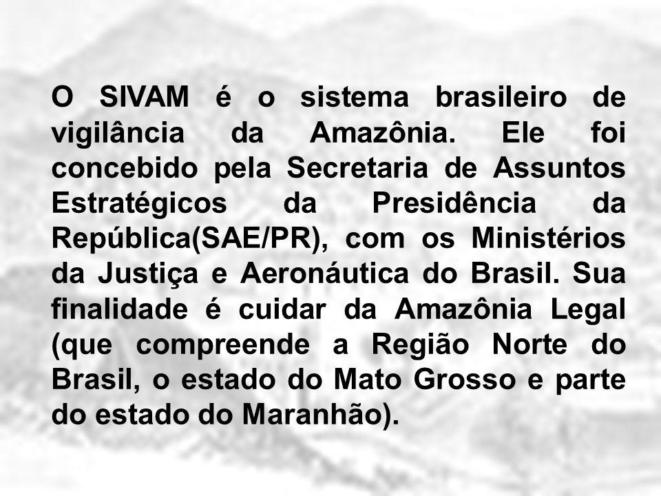 O SIVAM é o sistema brasileiro de vigilância da Amazônia. Ele foi concebido pela Secretaria de Assuntos Estratégicos da Presidência da República(SAE/P