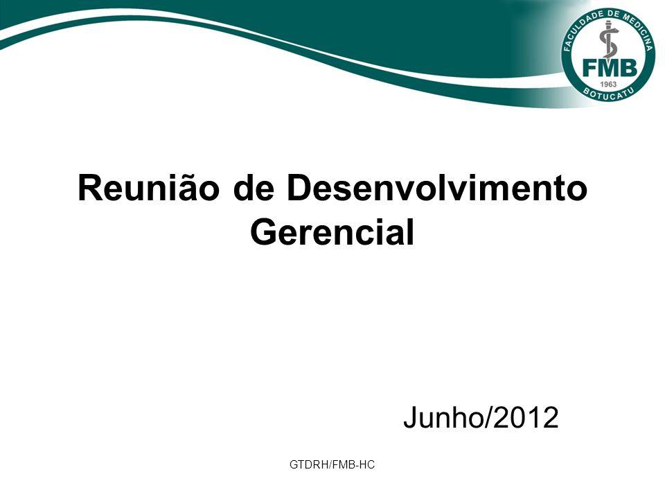 GTDRH/FMB-HC Reunião de Desenvolvimento Gerencial Junho/2012