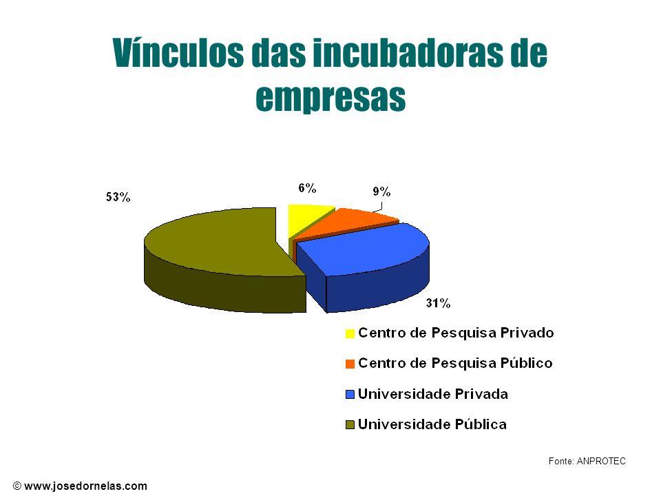 © www.josedornelas.com Vínculos das incubadoras de empresas Fonte: ANPROTEC
