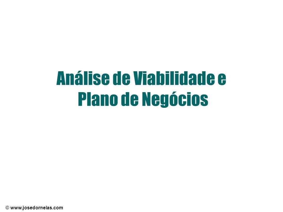 © www.josedornelas.com Análise de Viabilidade e Plano de Negócios