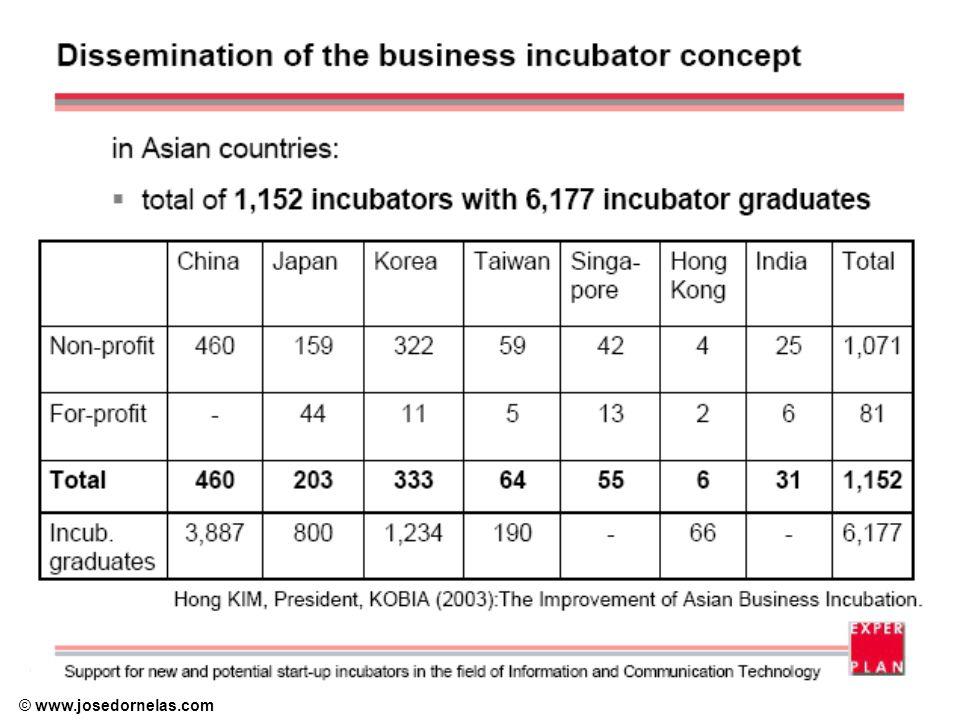 Objetivos Segundo a NBIA, uma incubadora de empresas deve oferecer, pelo menos, os seguintes serviços (RICE, 1992): 1.Possibilitar ao empreendedor o desenvolvimento de uma rede de contatos, sempre encorajado pelo gerente da incubadora.