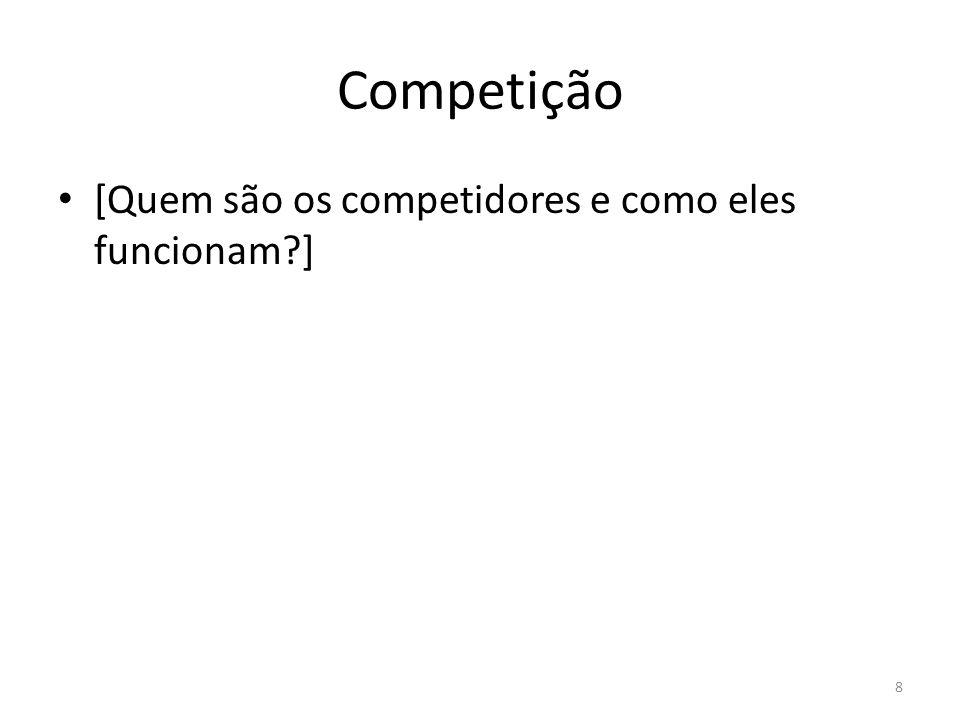 Competição [Quem são os competidores e como eles funcionam?] 8