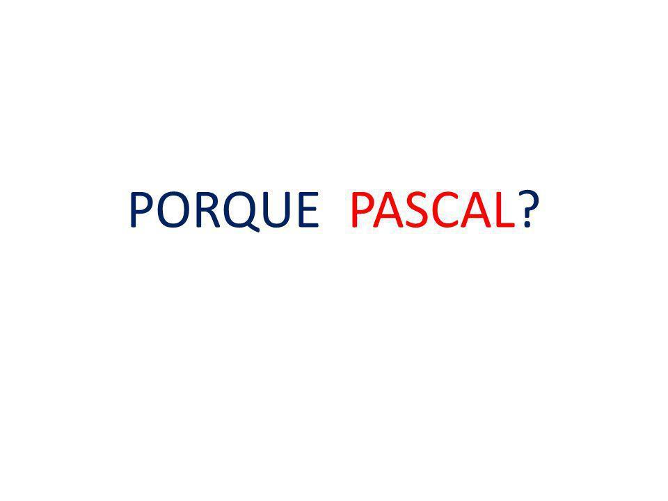 PORQUE PASCAL?