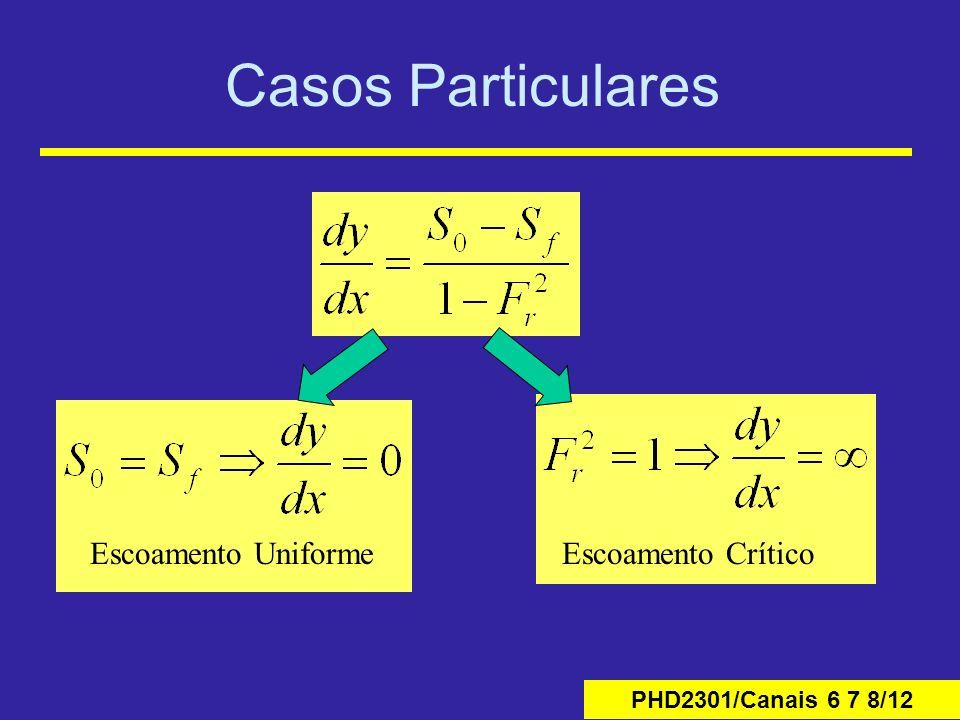 PHD2301/Canais 6 7 8/12 Casos Particulares Escoamento UniformeEscoamento Crítico