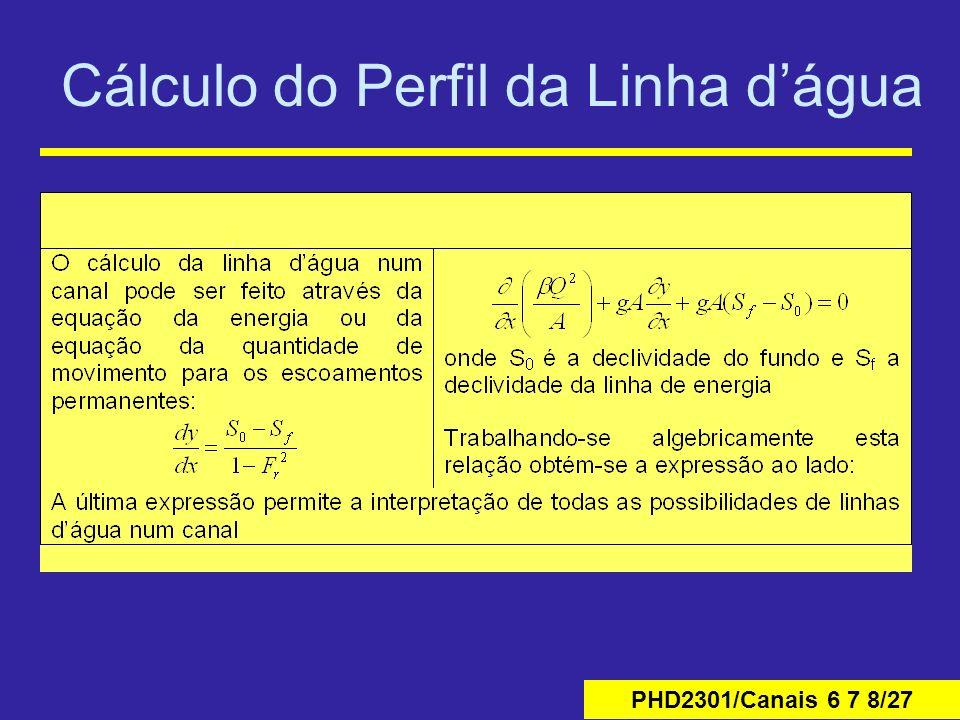 PHD2301/Canais 6 7 8/27 Cálculo do Perfil da Linha dágua