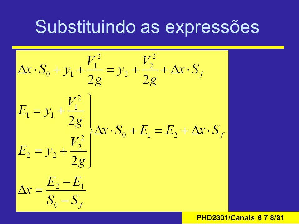 PHD2301/Canais 6 7 8/31 Substituindo as expressões