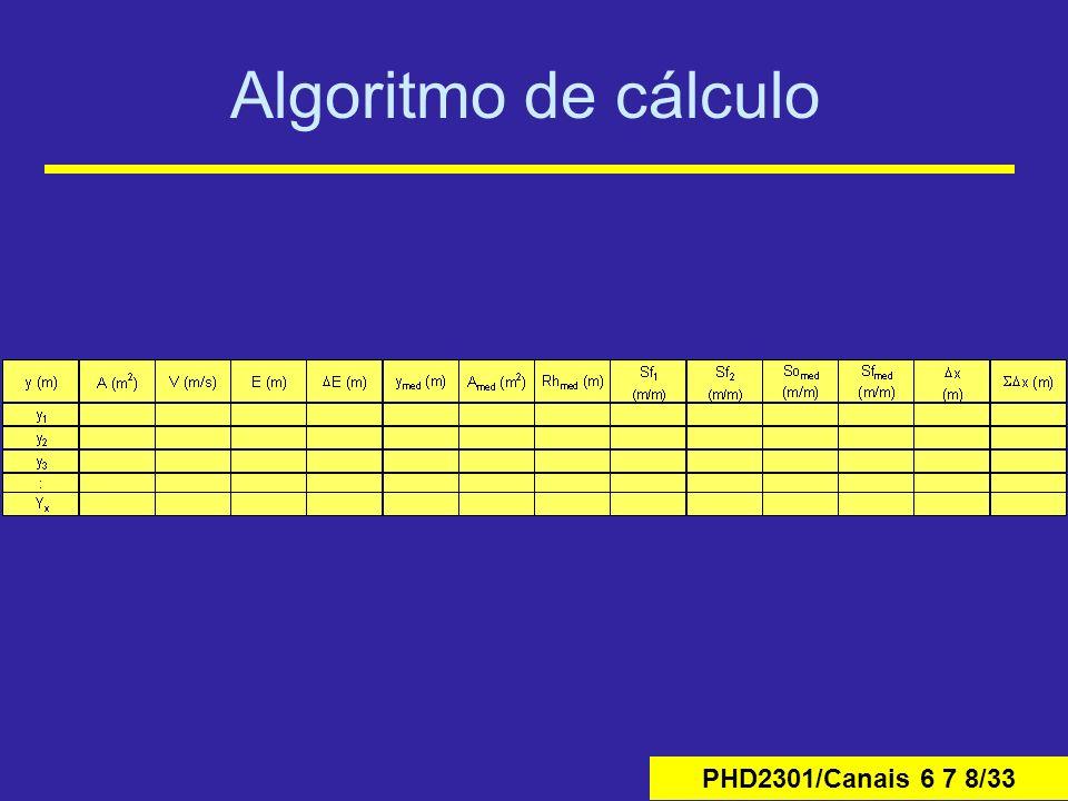 PHD2301/Canais 6 7 8/33 Algoritmo de cálculo