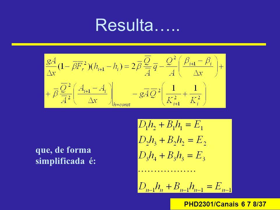 PHD2301/Canais 6 7 8/37 Resulta….. que, de forma simplificada é: