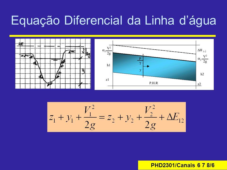 PHD2301/Canais 6 7 8/6 Equação Diferencial da Linha dágua