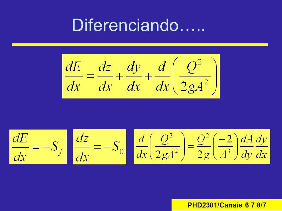 PHD2301/Canais 6 7 8/7 Diferenciando…..