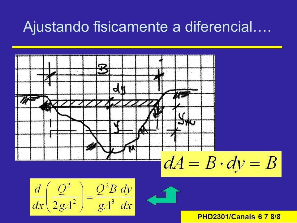PHD2301/Canais 6 7 8/39 Algoritmo de solução O sistema pode ser solucionado pelo esquema de dupla- varredura , adotando-se valores iniciais para as profundidades e calculando-se para as seções os valores de B, D e E.