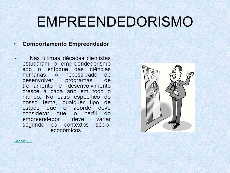 EMPREENDEDORISMO Comportamento Empreendedor Nas últimas décadas cientistas estudaram o empreendedorismo sob o enfoque das ciências humanas. A necessid