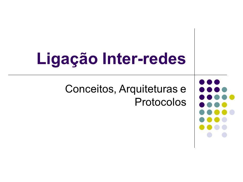 Ligação Inter-redes Conceitos, Arquiteturas e Protocolos