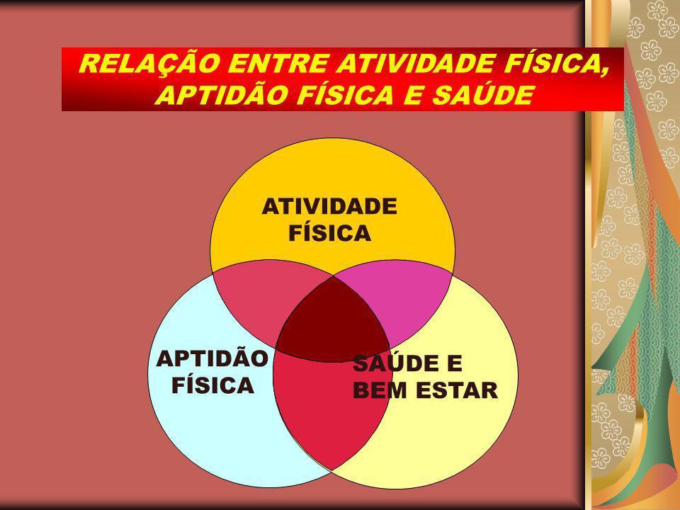 APTIDÃO FÍSICA ATIVIDADE FÍSICA SAÚDE E BEM ESTAR RELAÇÃO ENTRE ATIVIDADE FÍSICA, APTIDÃO FÍSICA E SAÚDE