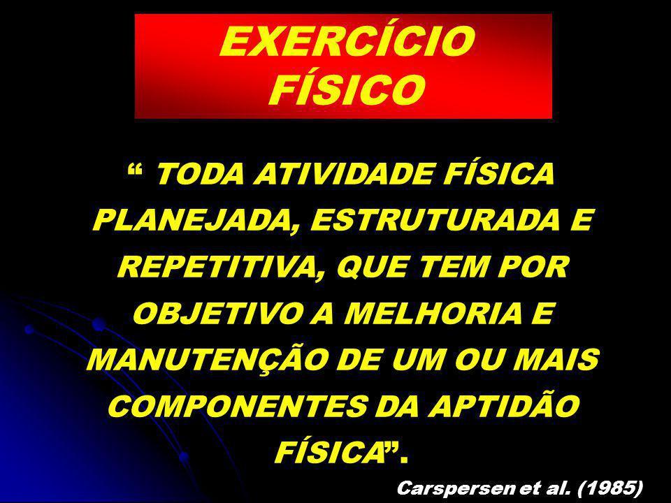 EXERCÍCIO FÍSICO Atividade física estruturada