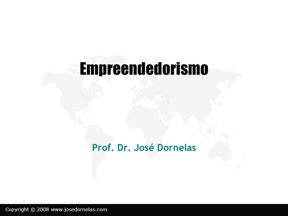 Copyright © 2008 www.josedornelas.com Empreendedorismo Prof. Dr. José Dornelas