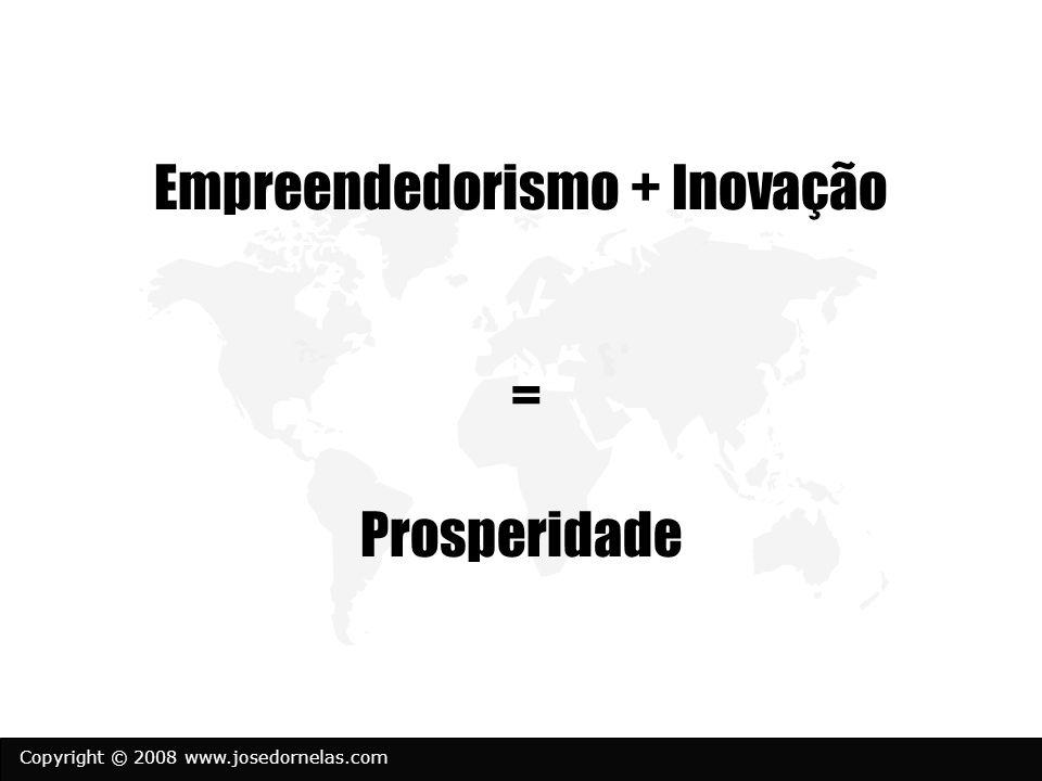 Copyright © 2008 www.josedornelas.com Empreendedorismo + Inovação = Prosperidade