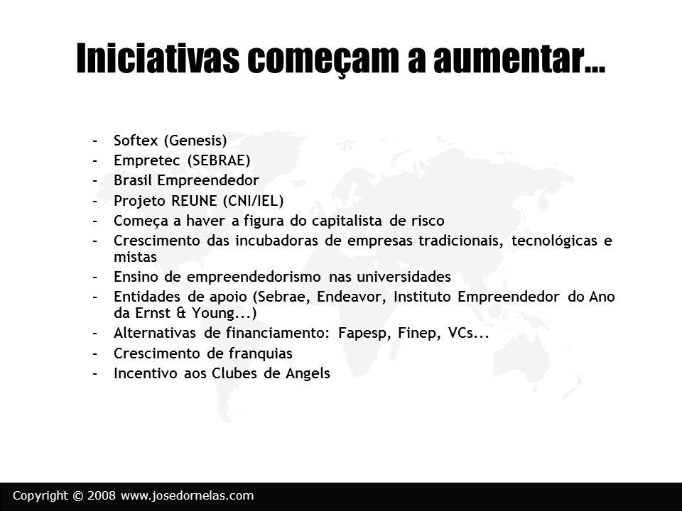 Copyright © 2008 www.josedornelas.com Iniciativas começam a aumentar...