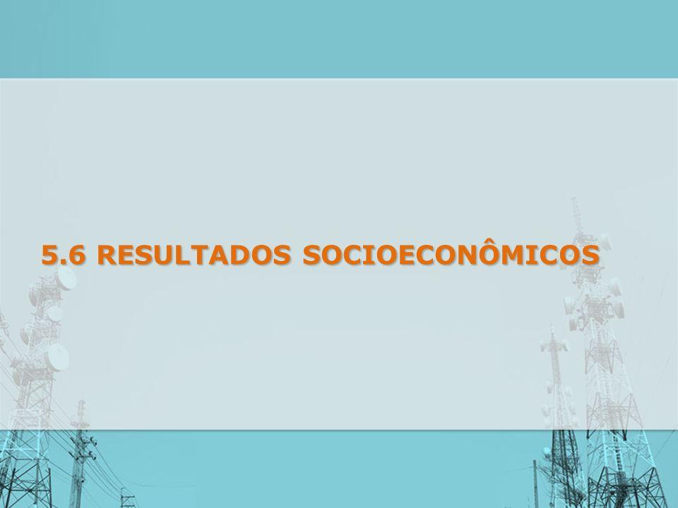 5.6 RESULTADOS SOCIOECONÔMICOS